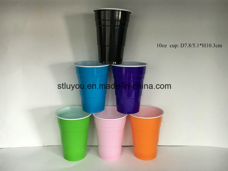 10oz Disposable Double Color Party Plastic Cup