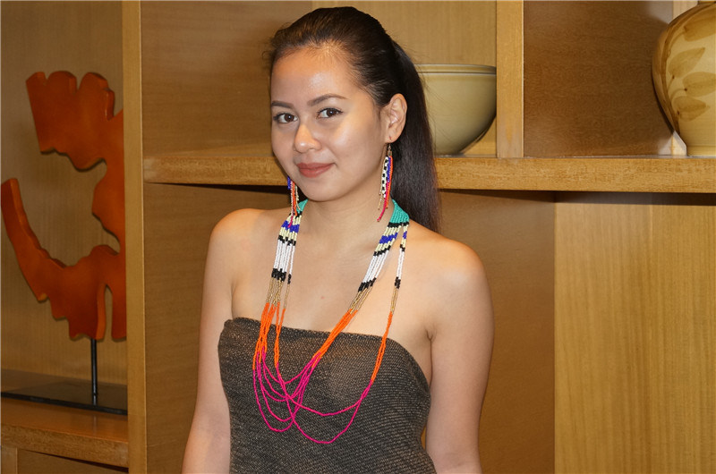 Fashion Colorful Beads Necklace with Earrings Jewelry Set