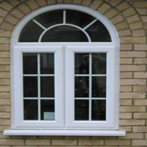 China pvc arch window photos pictures made in - Ventanas aluminio blanco ...