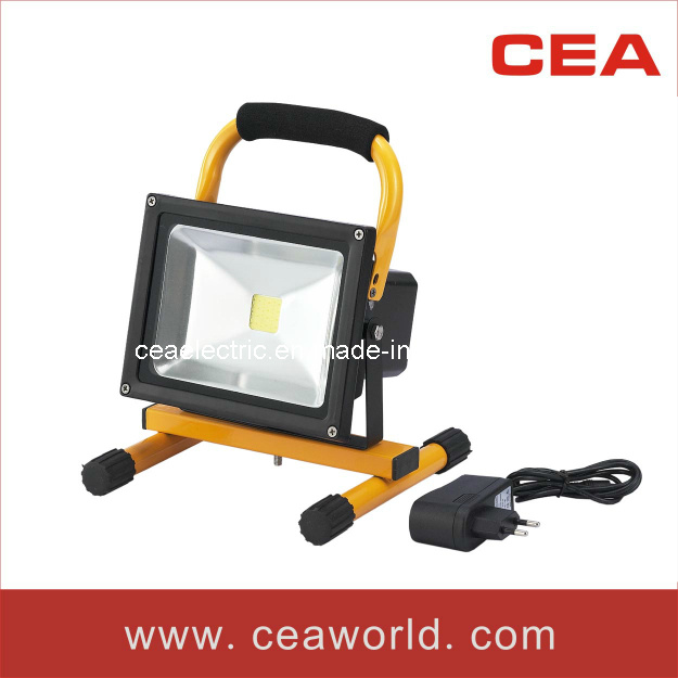 Ce&RoHS Approved 20W Rechargeable LED Flood Light with Charger