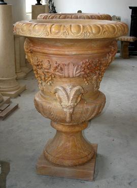 Marble Pot for Garden Stone Decoration Sculpture