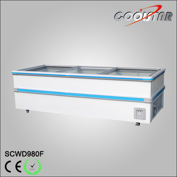 Commercial Jumbo Freezer with Chorme Corner and Large Capacity Cold Storage