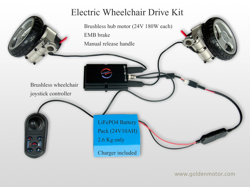 CE/SGS Approved Electric Wheelchair Motor, Medical Equipment