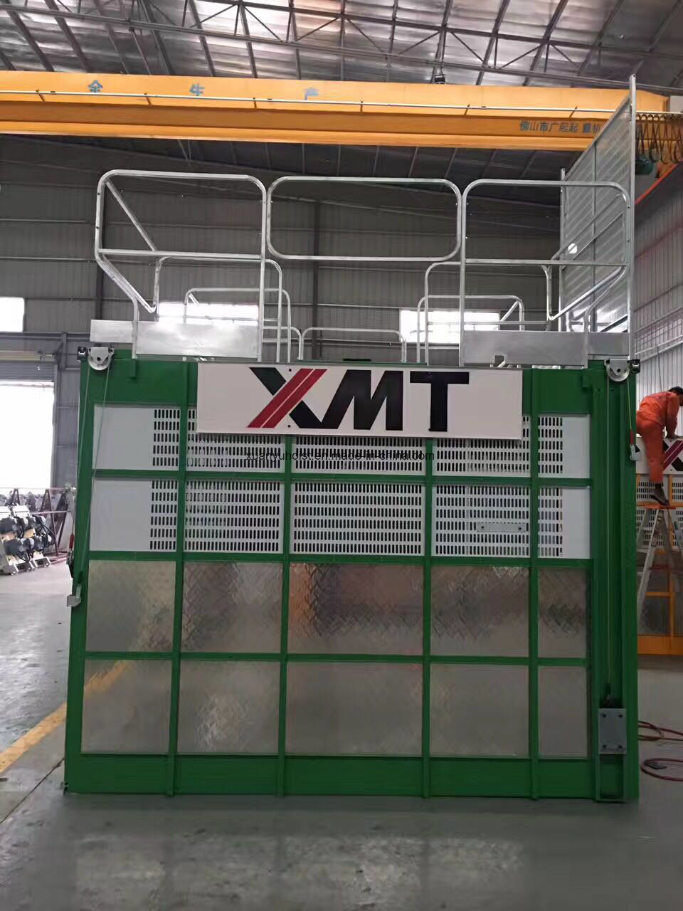 Double Cabins Building Construction Elevator for Materials with Easy Control
