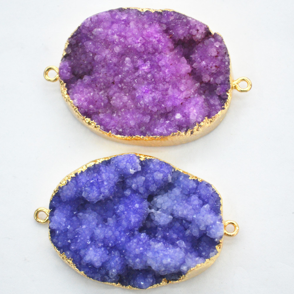 Wholesale Colors Nature Druzy Stones Jewelry pendant