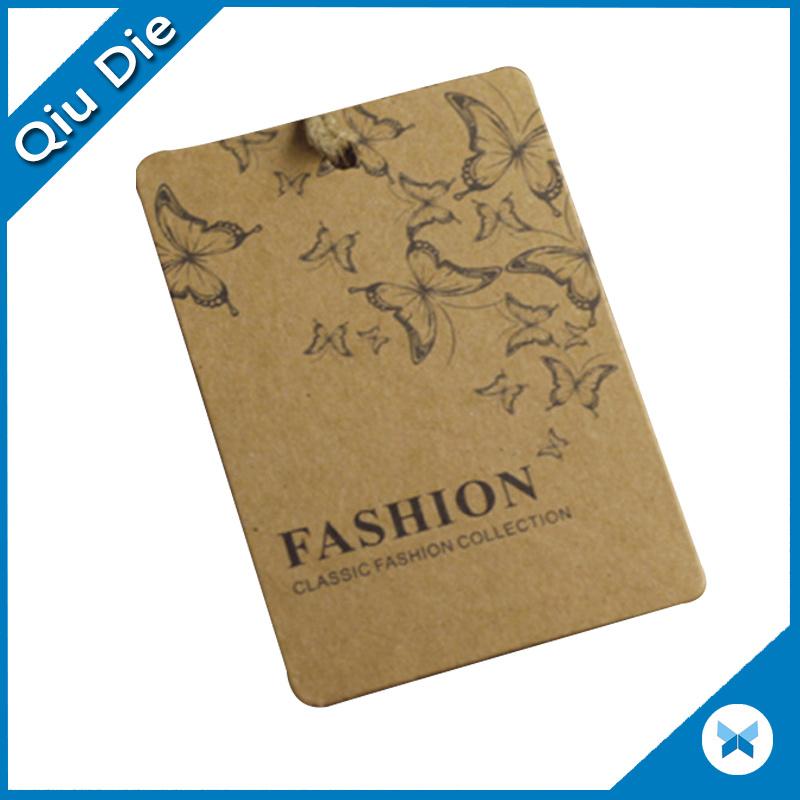 Custom Design Recycled Kraft Paper Jeans Hang Tags