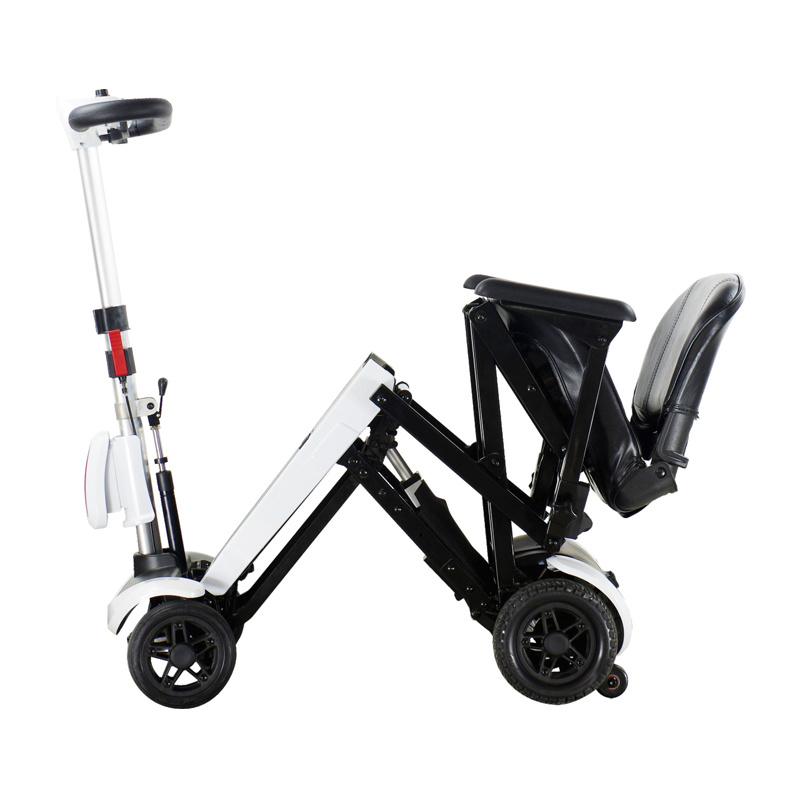 Genie Plus Four Wheels Compact Travel Foldable Scooter for The Disable