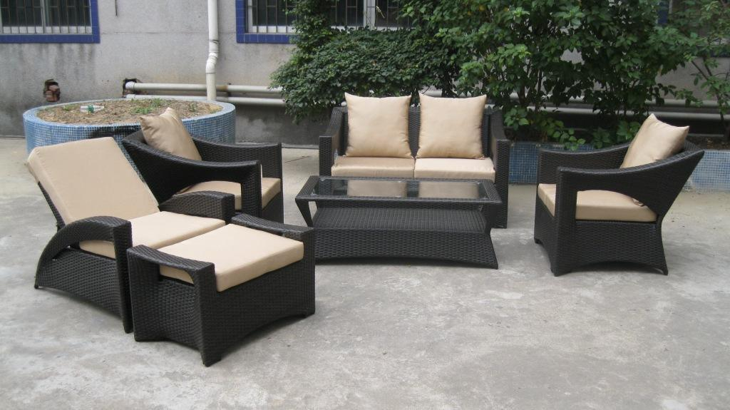 Stylish Wicker Rattan Garden Patio Sofa Furniture