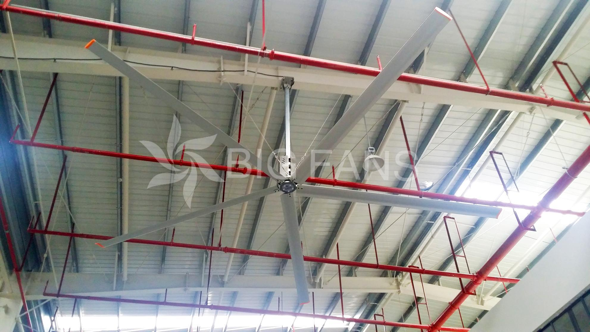 Bigfans Diameter Big Industrial Ceiling Fans for Ventilation1.5kw 6.2m/20.4FT