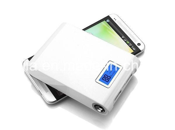 Power Bank 12000mAh High Capacity with Dual USB LCD