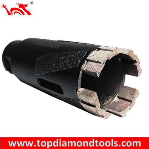 Diamond Core Drill Bits with Turbo Segment for Dry Drilling Granite or Hard Stone