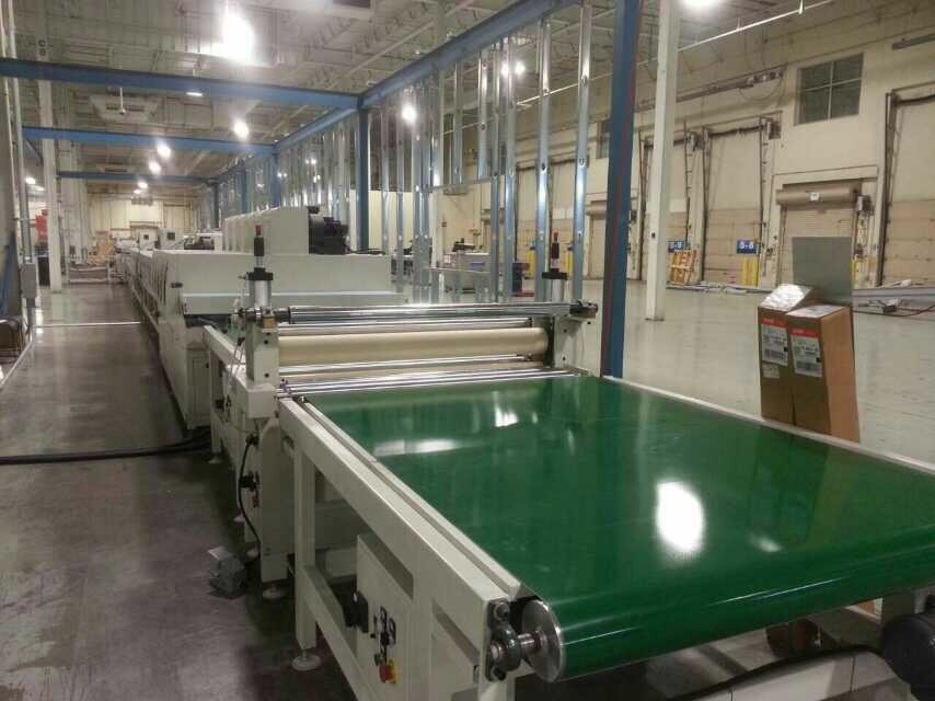 China top five uv coating factory mados roller coating uv for Wood floor factory