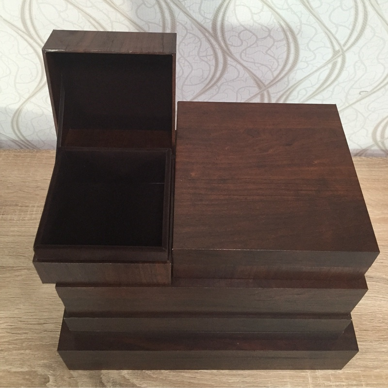 Classic Jewelry Wooden Like Packing Gift Box