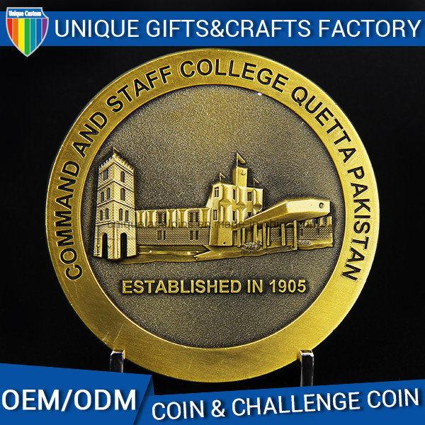 Custom Metal 3D Antique Gold Souvenir Coin Wholesale