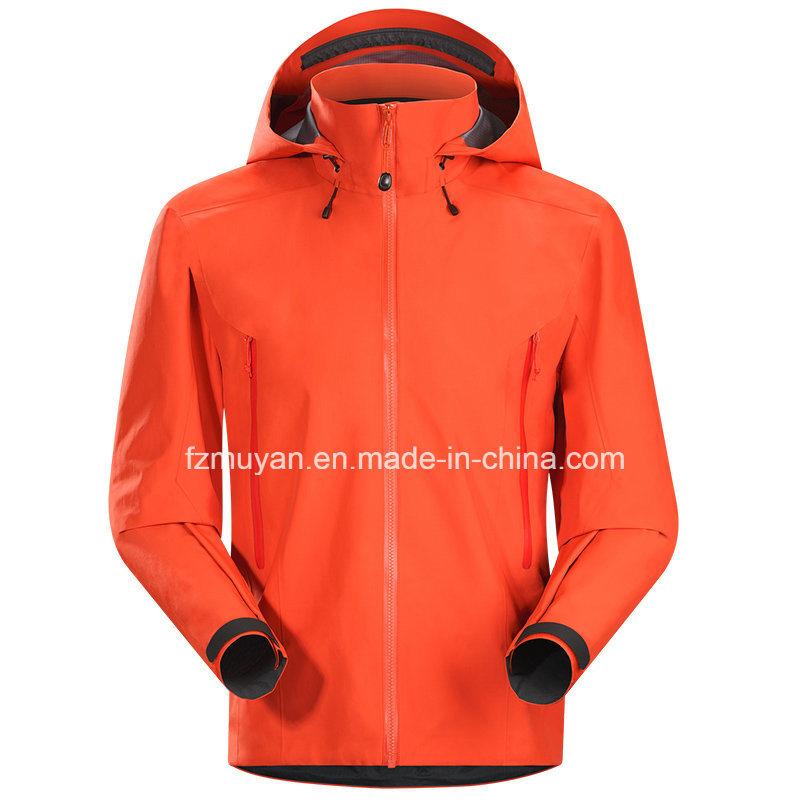 Soft-Shell Hooded Long-Sleeved Waterproof Jacket