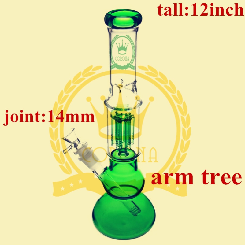 Wholesale Oil Rig Base Beaker Downstem Tall Colored Glass Water Pipe Factory for Canada USA Smoking Shop