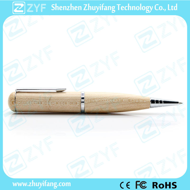 Man Made Artwork Pen Shape Maple Wood Flash Drive (ZYF1337)