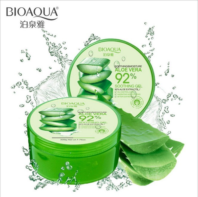 Bioaqua 220g Natural Aloe Vera Gel, Moisture, Whitening Skin Care