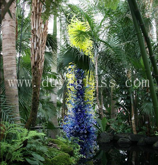 Art blown glass decoration china handblown glass glass Dale chihuly bronx botanical garden
