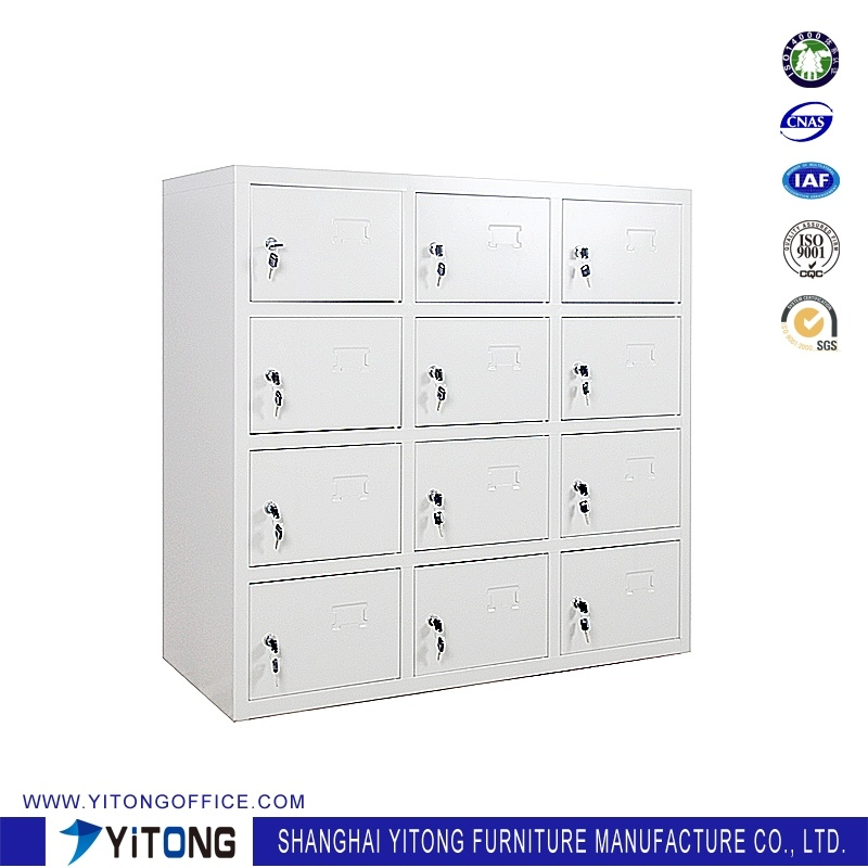 Yitong 12-Door Metal Storage Cabinet / Office Use Steel Shoe Cabinet Locker