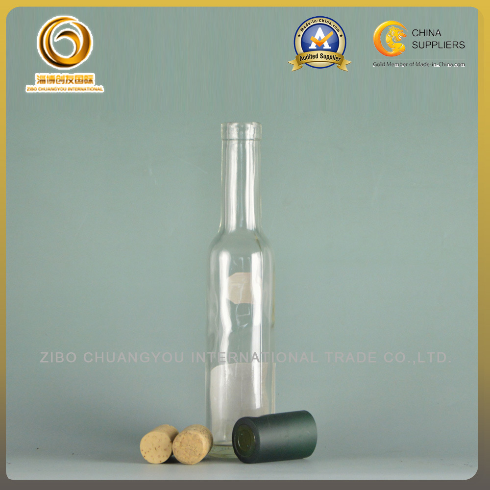 Clear 200ml Cork Top Wine Bottle Wholesale (017)