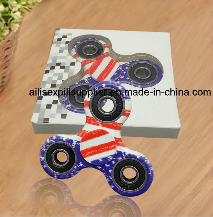 Factory Price 2017 Hot Sale Painted Plastic Metal EDC Fidget Spinner Hand Spinner