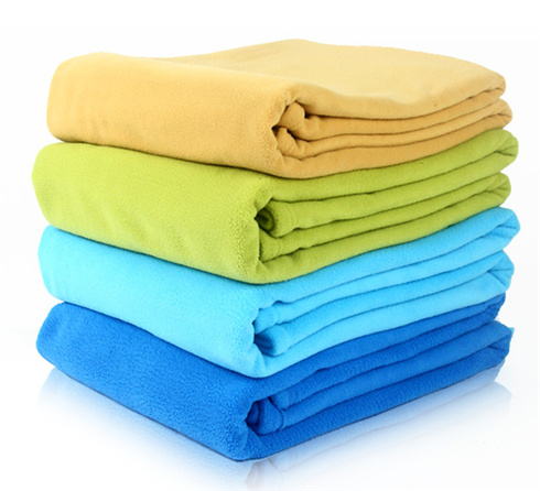 100% Polyester High Quality Solid Color Polar Fleece Wholesale Blanket