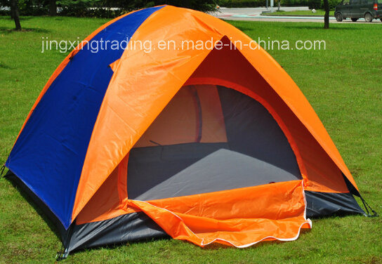 Waterproof Double-Skin Polyester Camping Tent for 2-4 Persons (JX-CT020-1)