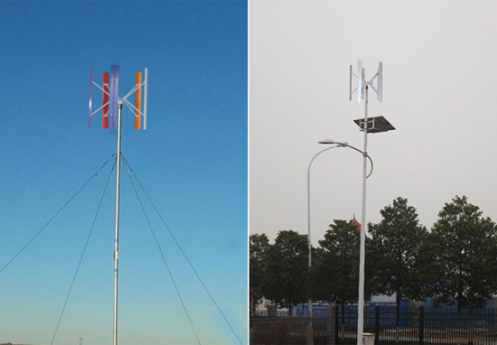 Wind Power Generatator with LED Solar Street Lights