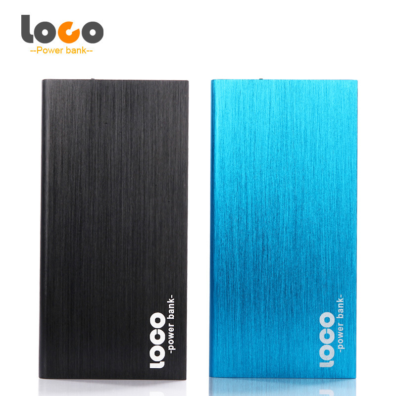 Metal Thin Polymer 12000mAh Power Bank Portable with LED Light