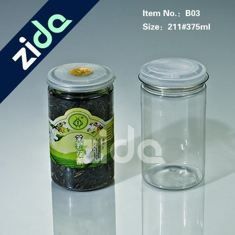 Pet Clear Plastic Candy Jar with Screw Cap Wholesale