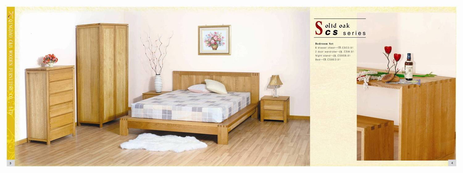 China wardrobe bed sideboard cs oak furniture