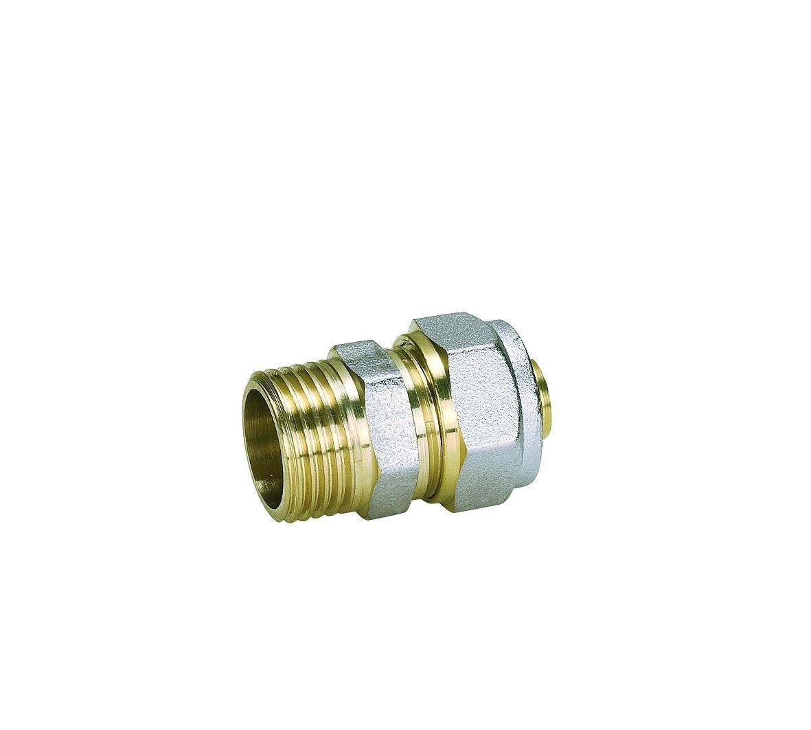 Brass Fittings for Pex-Al-Pex Pipe with Straight Male Connector