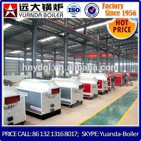1 Ton 2 Ton 4 Ton 6 Ton 8 Ton Per Hour Capacity 12 Bar Pressure Coal Fired Steam Boiler