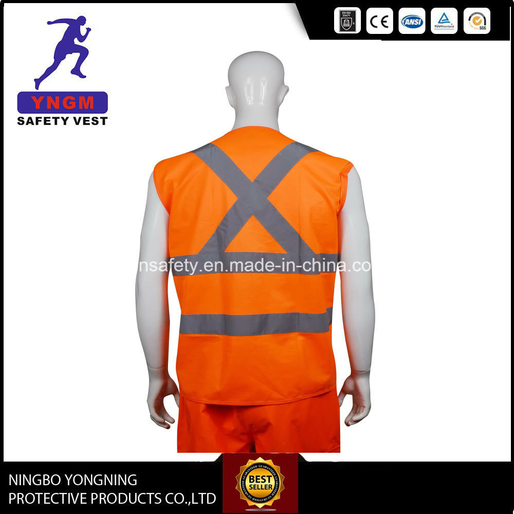 En20471 OEM Serivce Roadway Reflective Running Vest Reflection Safety Vest