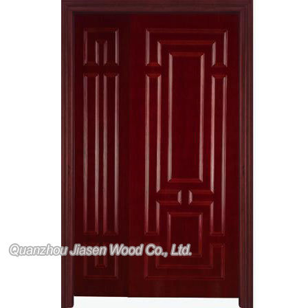 Double wood door dd006 china wood door wooden door for Double door wooden door