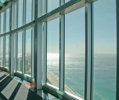 aluminum frame sliding gl window