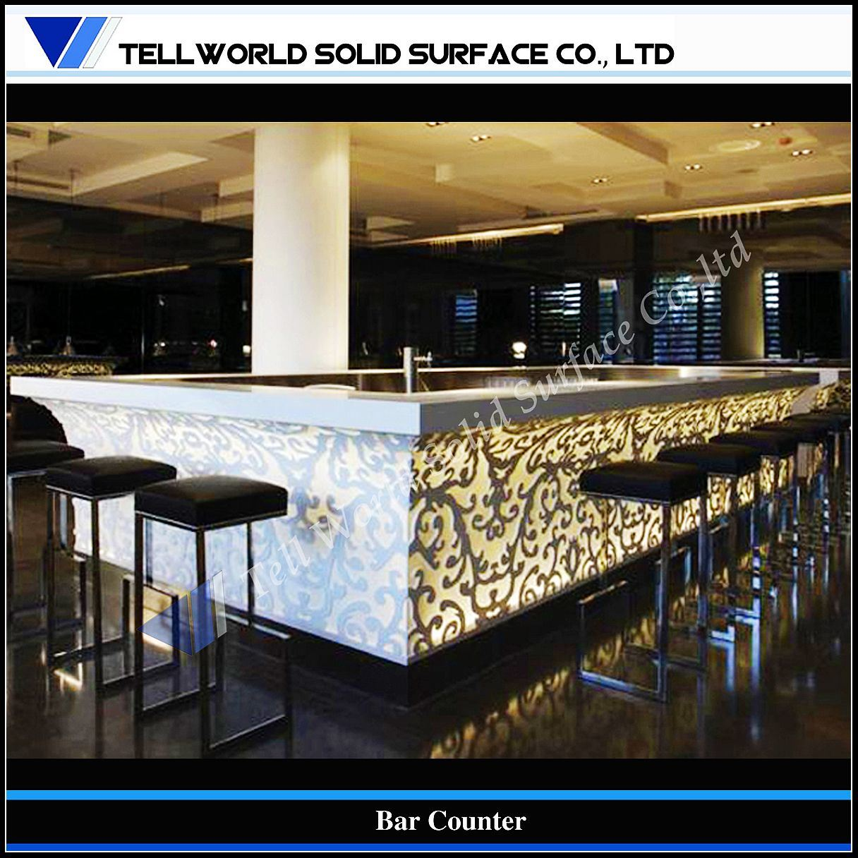China large commericial furniture club bar counter tw