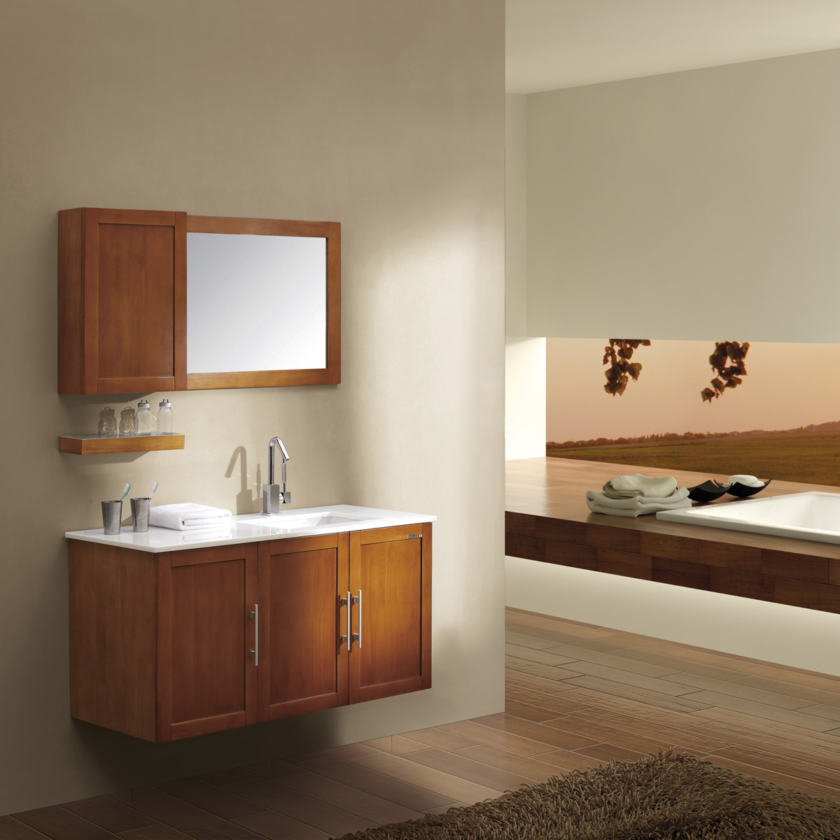 solid wood bathroom cabinets set kl266 china bath cabinets