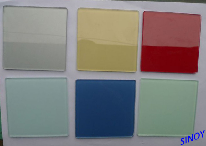 Sinoy Sinolaco Branded 2mm - 6mm Colorful Back Painted Glass / Lacquered Glass for Interior Applications