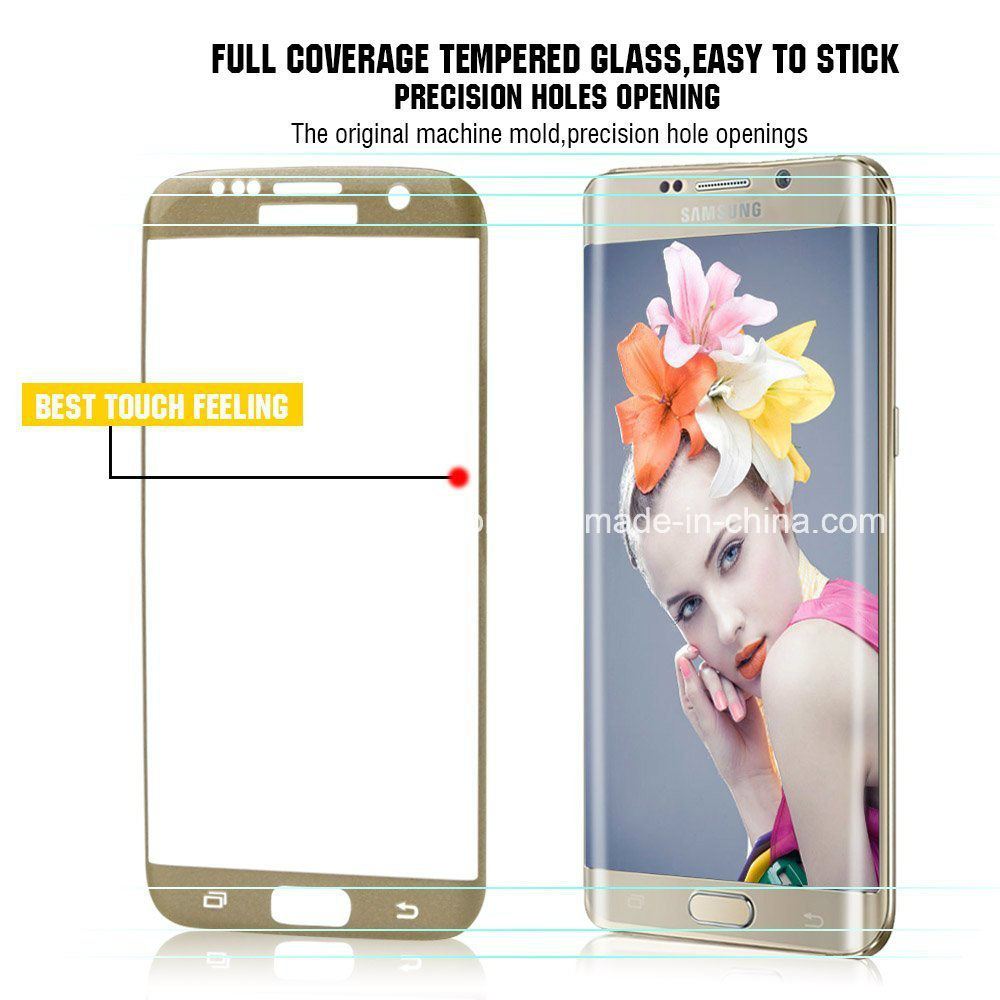 3D Curved Cover Phone Accessories Tempered Glass for S7 Edge Accessory