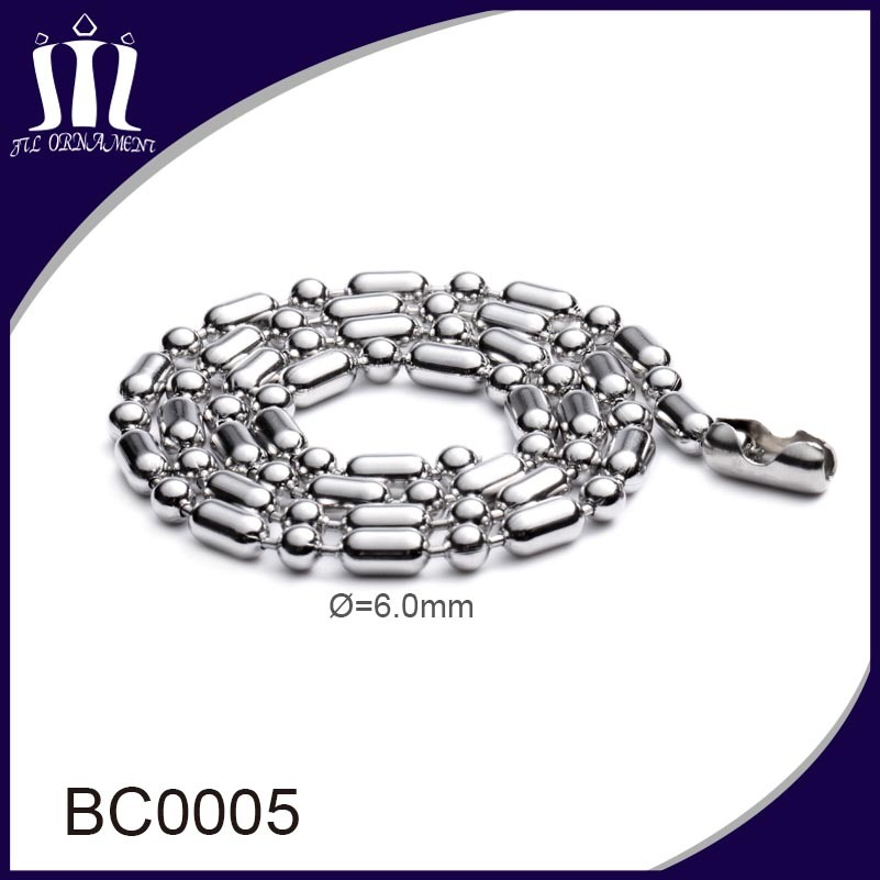 Popular Stainless Steel Big Ball Bead Chain for Sale