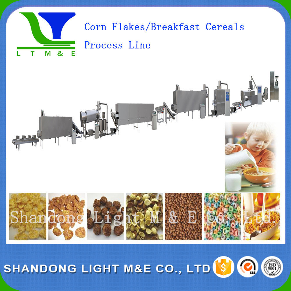 High Quality Extruded Crispy Sweet Corn Flakes Snack Machine