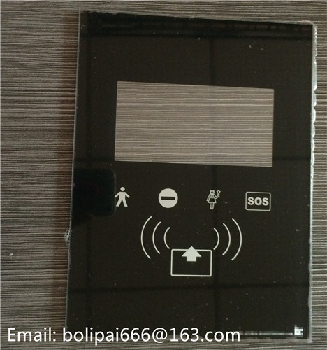 Silkscreen Printing Colorful Tempered Glass Switch Panel Switch Plate