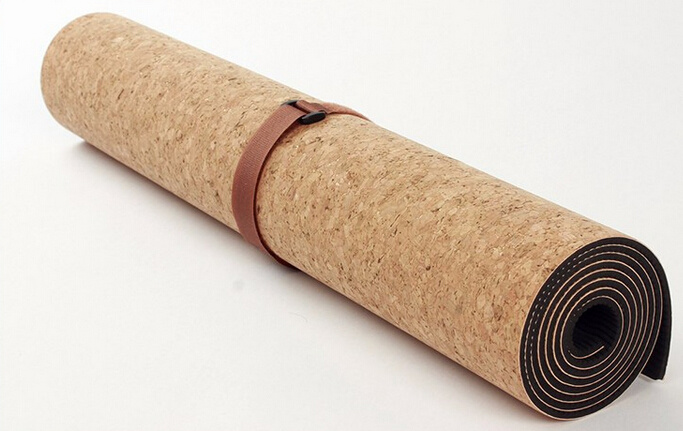 Eco Friendly Natural Cork Yoga Mat with Custom Printed Images