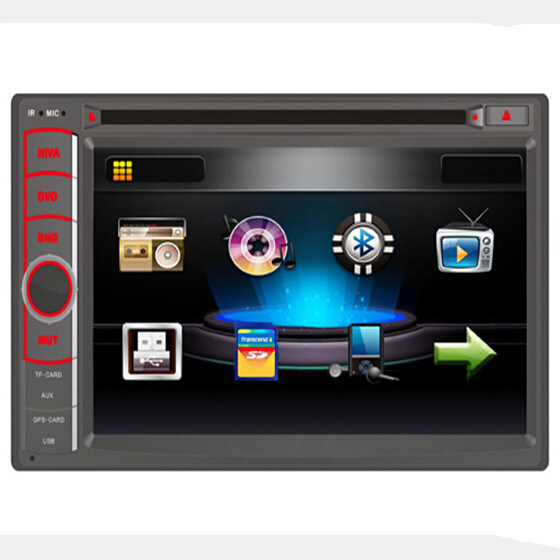 Two DIN Universal Car DVD Player/Audio Player with GPS Navigation