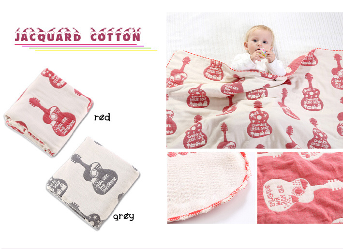 "Wholesale New Jacquard Cotton Baby Blanket 30""*40"""