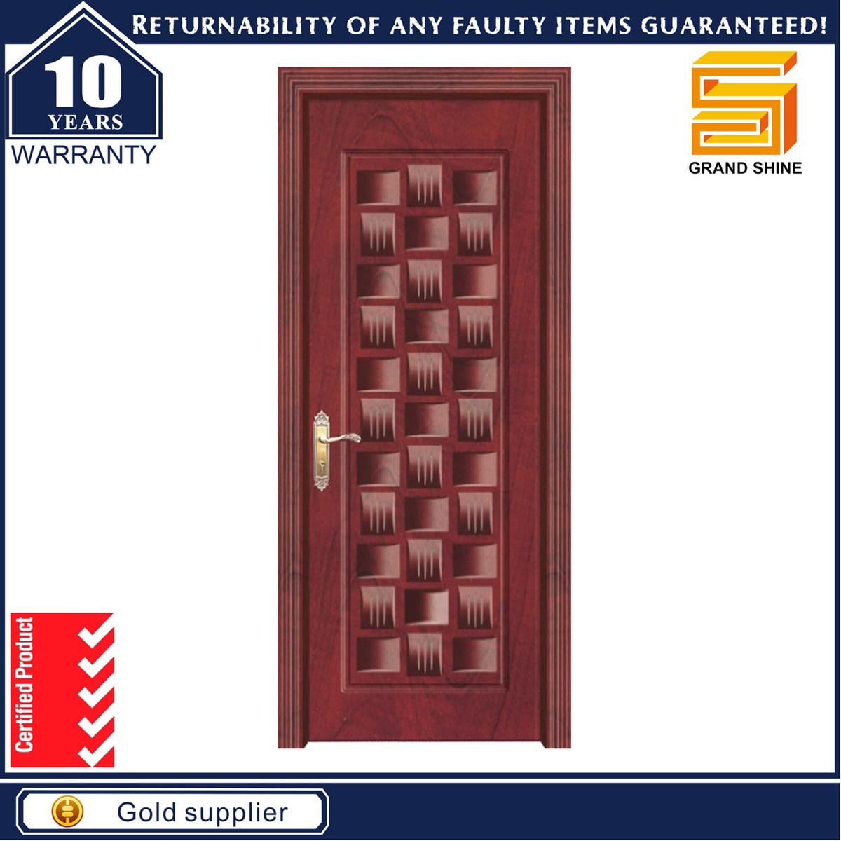 Composite Solid Wood Entrance Steel Interior MDF Veneer Timber Door