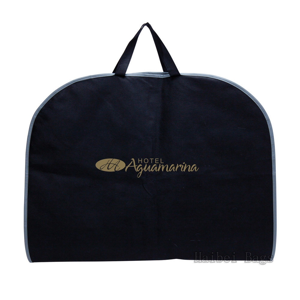 Custom Printed Non Woven Suit Bag, PP Garment Bag (HBGA-49)