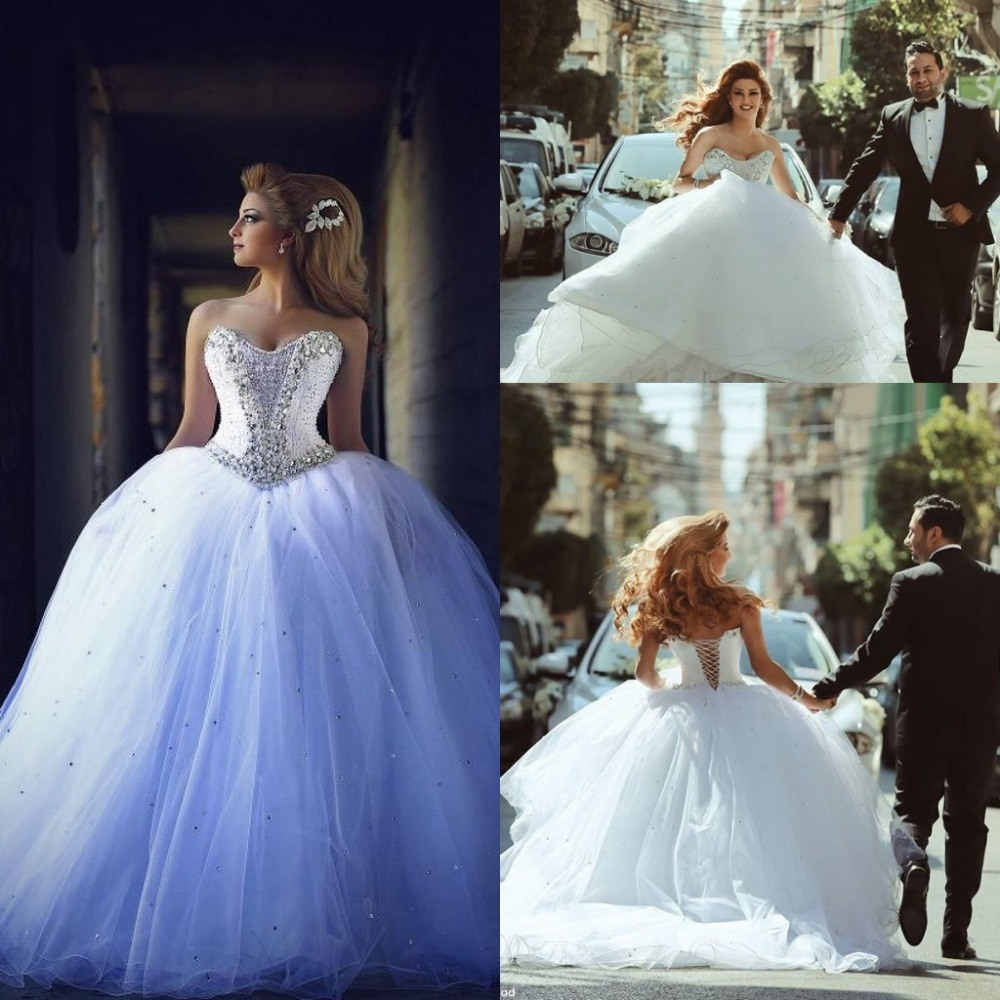 Arabic Luxury Bridal Ball Gowns Crystal Wedding Dresses Z5041